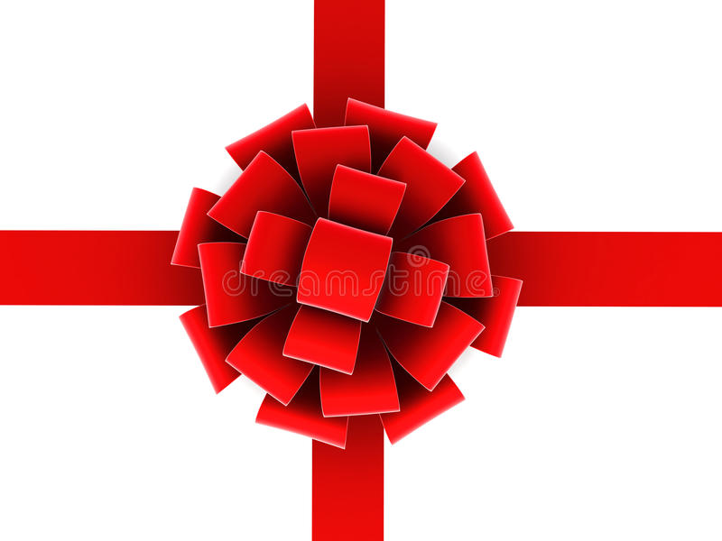 Download Red ribbon and bow. stock illustration. Image of decoration - 27985349