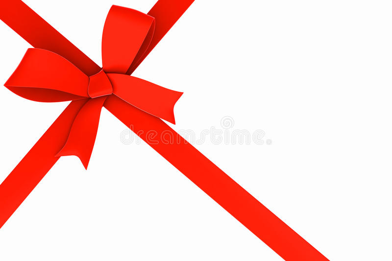 Download Red ribbon and bow. stock illustration. Image of present - 28004333