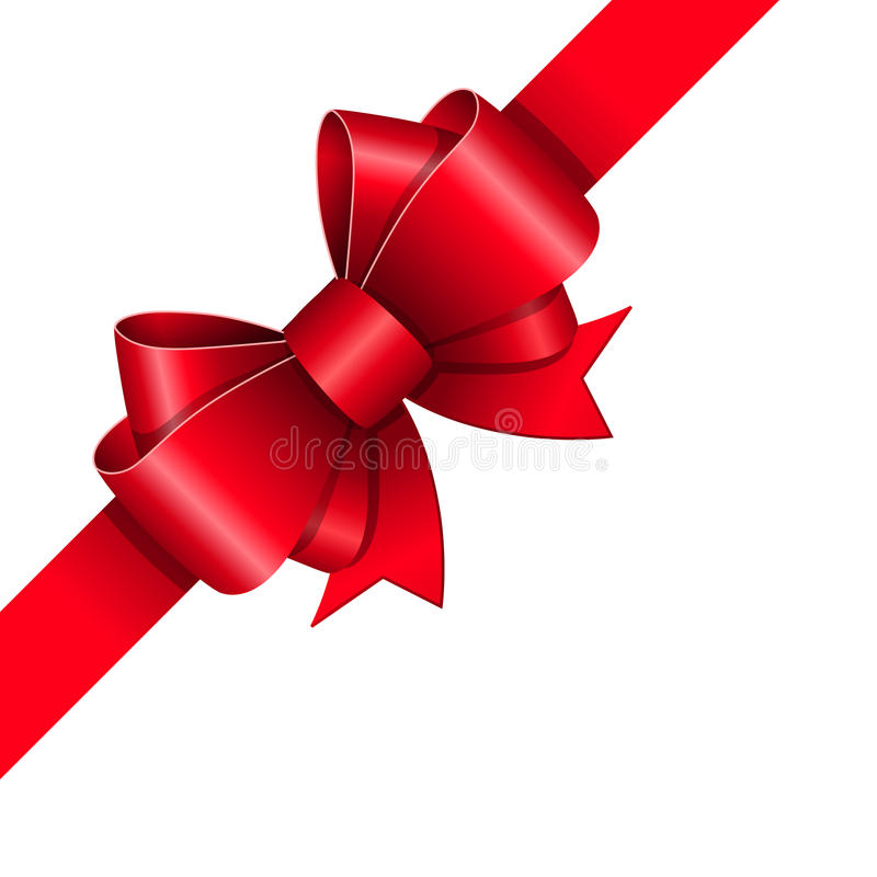 Free Red Ribbon Bow Stock Image - 35905701