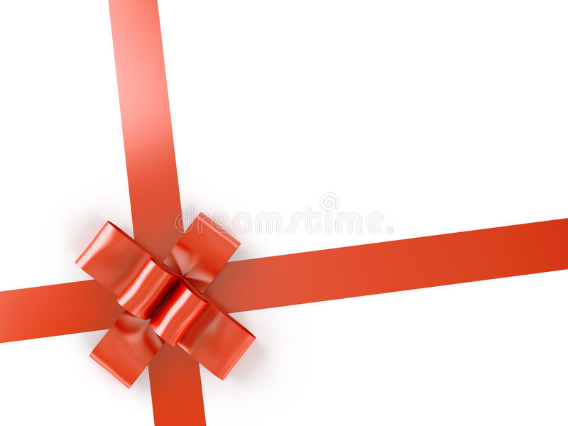 Download Red Ribbon And Bow Isolated On Stock Photo - Image: 12105030