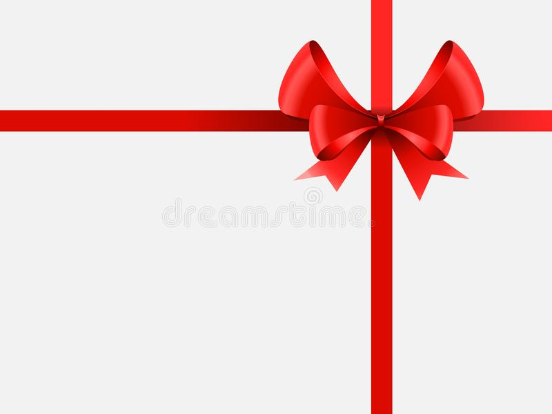 Red ribbon and bow vector illustration vector illustration