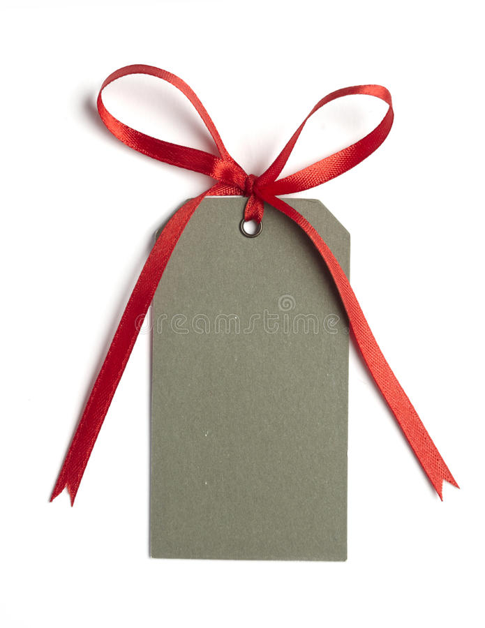 Red ribbon card note stock photos