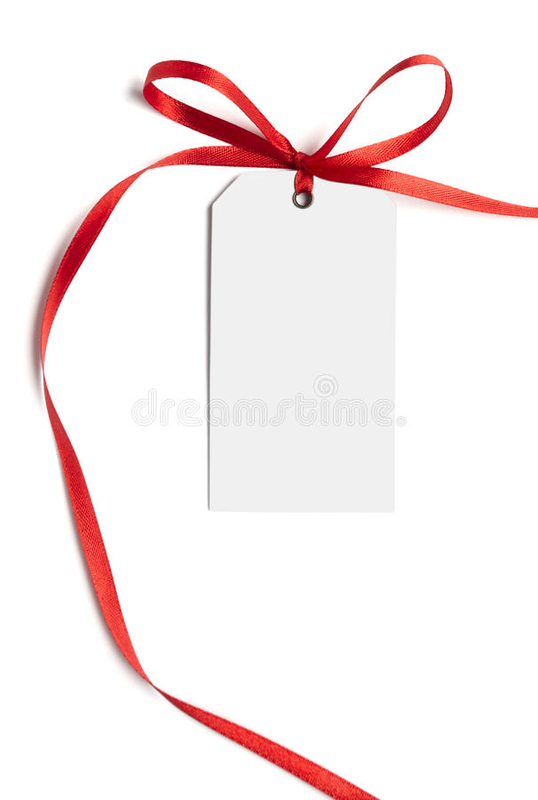 Red ribbon card note stock images