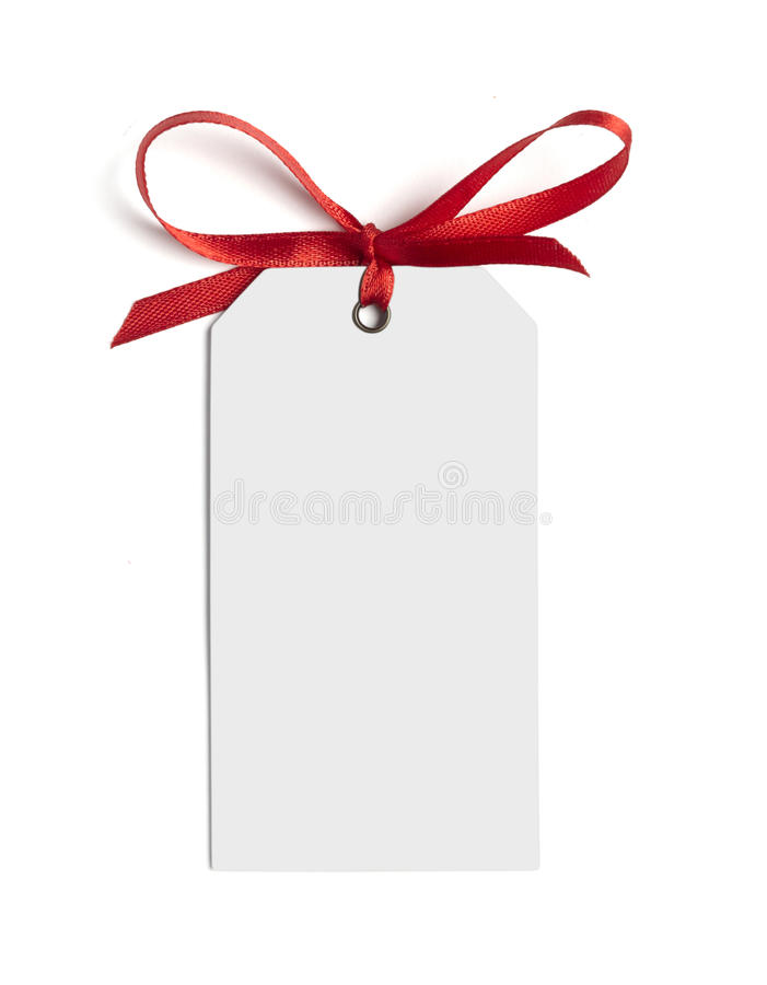 Red ribbon card note royalty free stock images