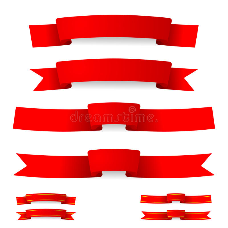 Red ribbon stock photography