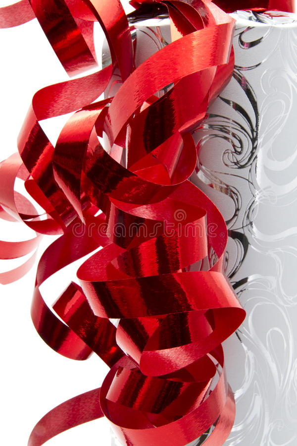 Red Ribbon And Packing Paper Royalty Free Stock Photo