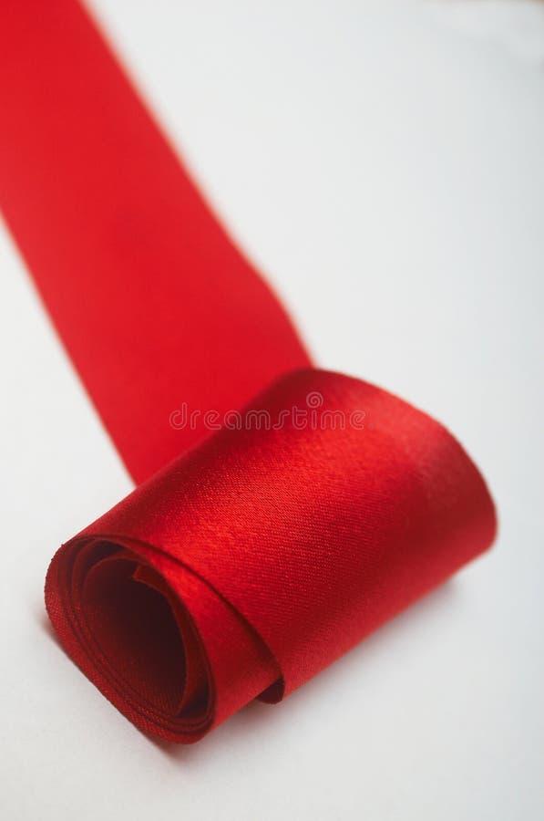 Red ribbon XIV royalty free stock photos