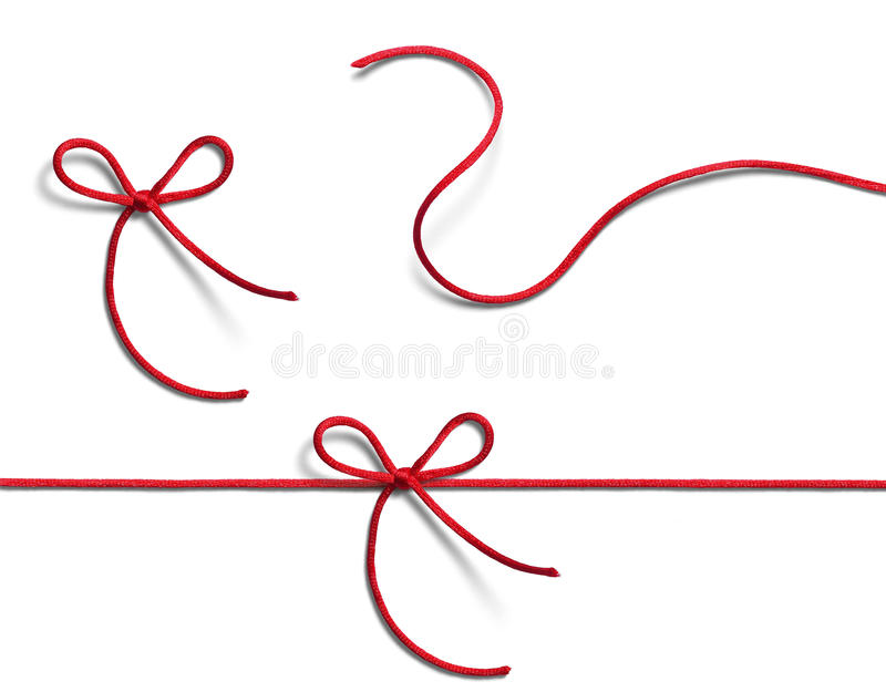 Red ribbons royalty free stock photo