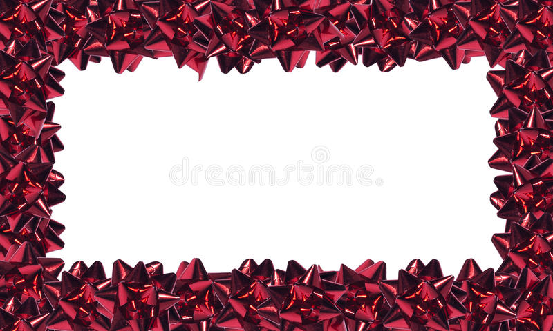 Red Ribbons Frame Royalty Free Stock Photography