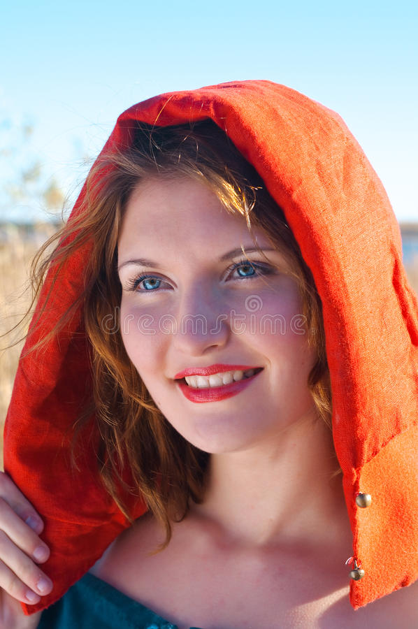 Download Red Riding  hood stock photo. Image of young, hood, night - 17051910