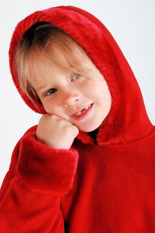 Download Red riding hood stock photo. Image of tooth, person, portrait - 1803906