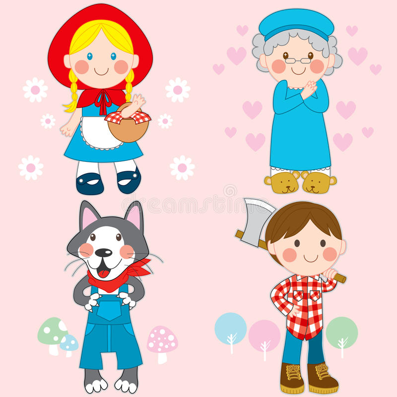 Download Red Riding Hood stock vector. Image of cute, childhood - 19295558
