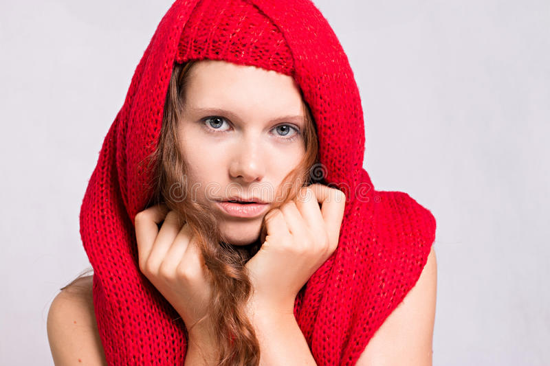 Red Riding Hood. Beauty Little Red Riding Hood stock photo