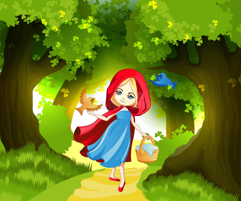 Red Riding Hood stock illustration