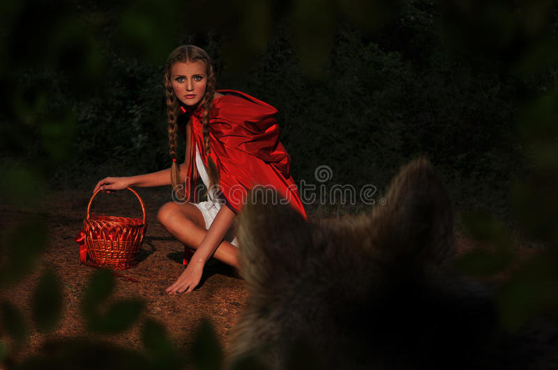 Download Red riding hood stock photo. Image of lips, illustration - 33642132