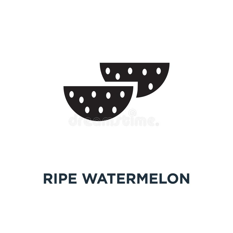 Red ripe watermelon icon. Simple element illustration. Red ripe vector illustration