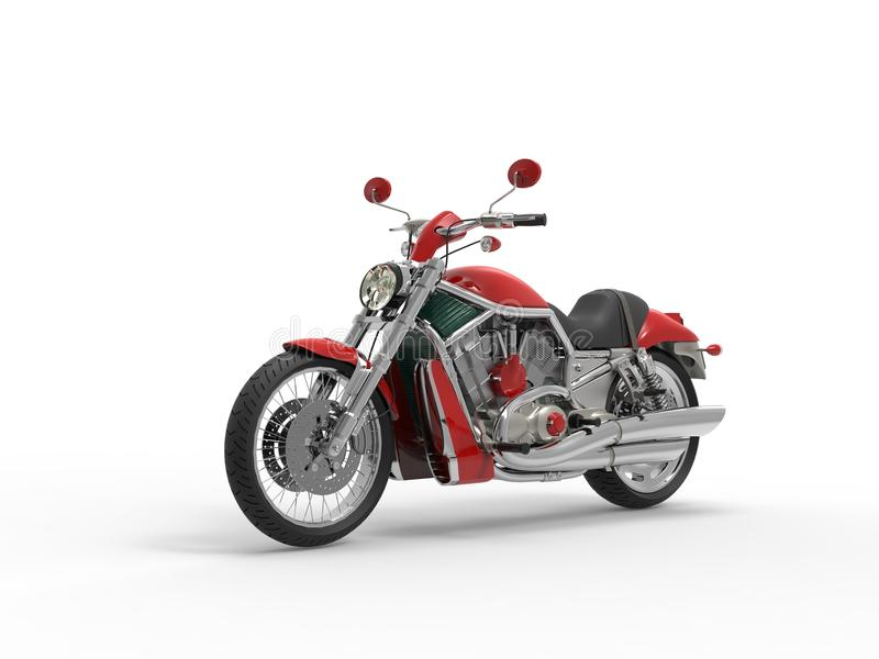 Red Roadster Bike royalty free stock images