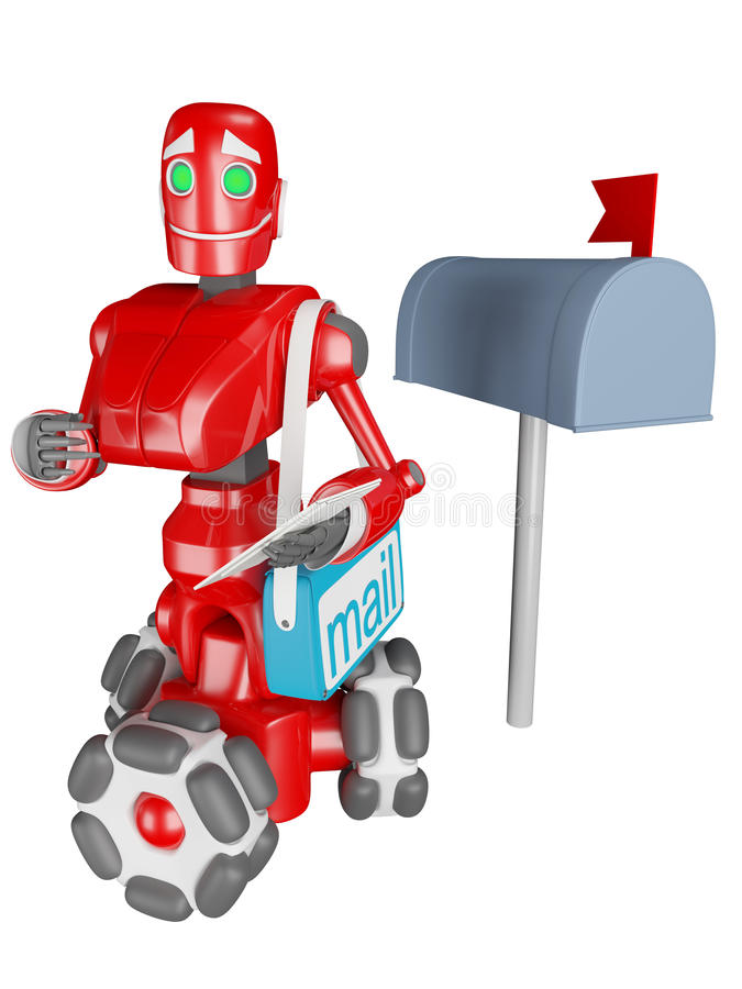 Download The red robot stock illustration. Image of dostavlka - 22738911