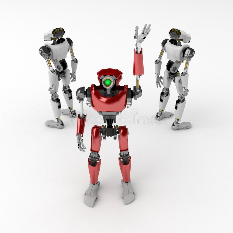 Download Red Robot stock illustration. Illustration of advanced - 5717872