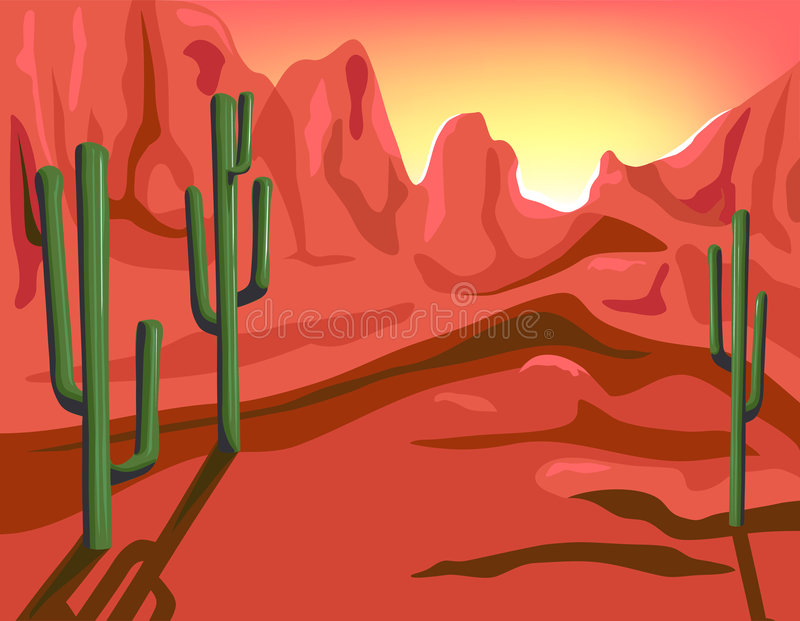 Red Rock stock illustration