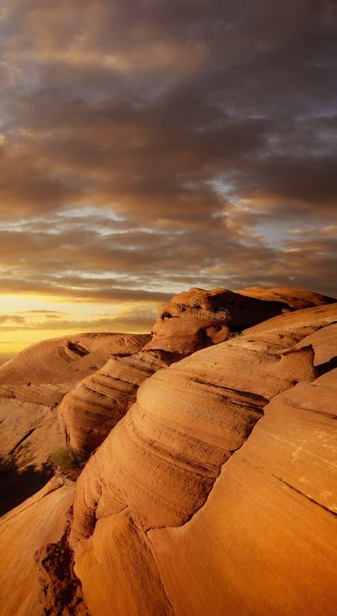 Red Rock canyon. At sunset stock photos