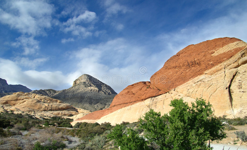 Download Red Rock Canyon stock image. Image of roks, shrub, rocky - 9150407