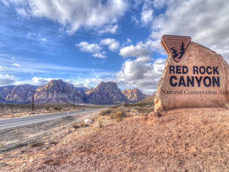 Red Rock Canyon National Conservation Area, USA stock photos