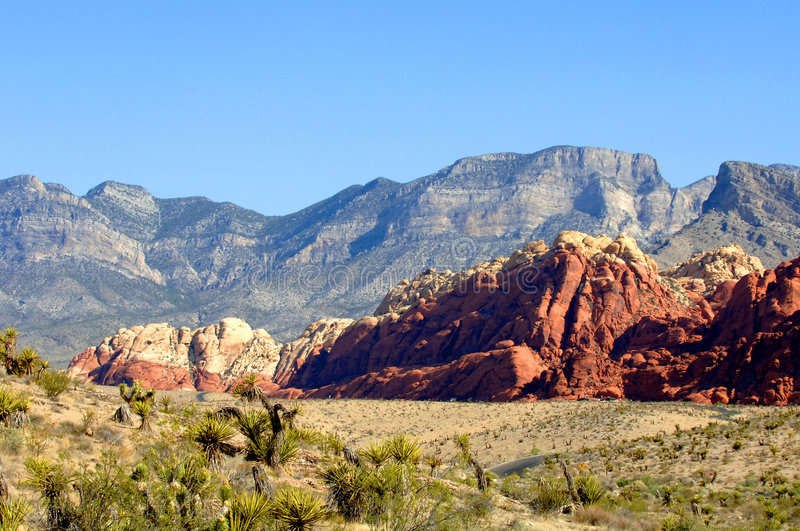 Red rock canyon Nevada. Landscape of red rock canyon in Nevada stock photo