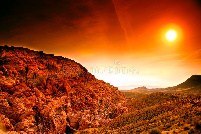 Download Red Rock Canyon, Nevada stock image. Image of valley, park - 481755