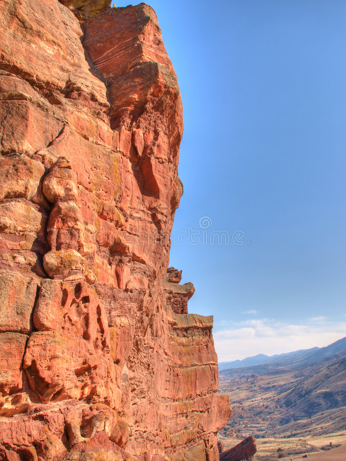 Download Red Rock Cliff stock image. Image of colorful, canyon - 8575801