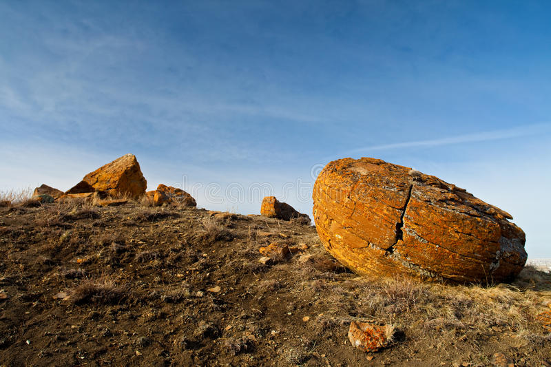 Red Rock Coulee in Southern Alberta, Canada royalty free stock image