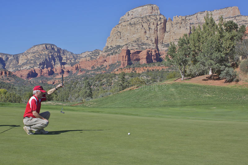 Red Rock Country Golfing stock photo