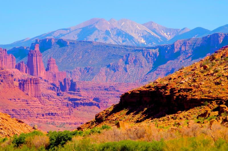 Red rock desert landscape near Moab, Utah. royalty free stock images