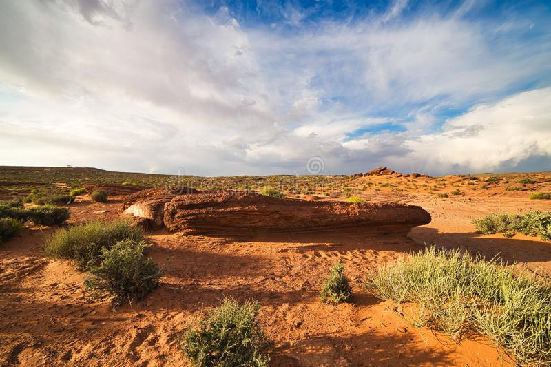 Red Rock Desert Landscape of Utah in the Iconic American Southwest. USA stock image
