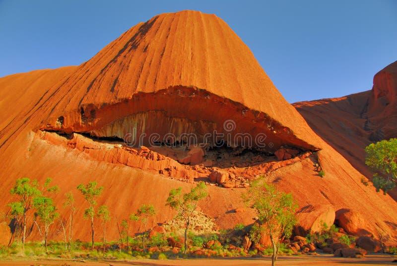 Red rock erosion. stock photo