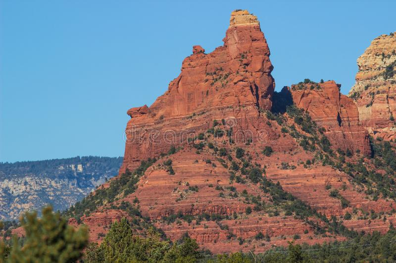 Red Rock Formation In Arizona High Desert stock photo