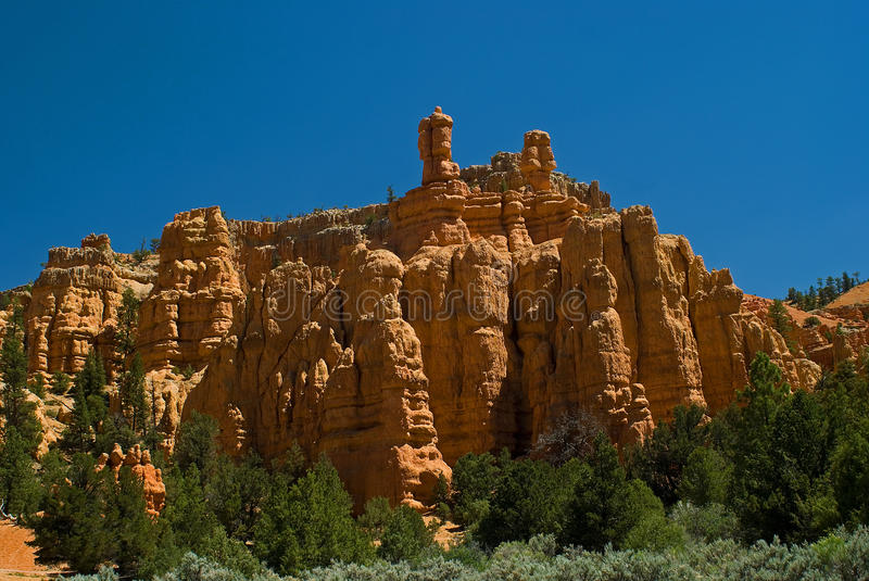 Download Red rock formation in utah stock image. Image of blue - 13103605