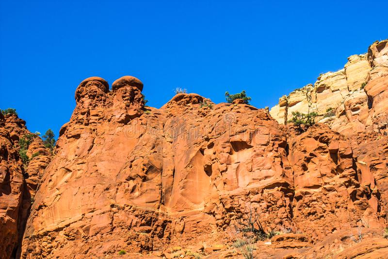Red Rock Formations In Arizona Mountains royalty free stock photos