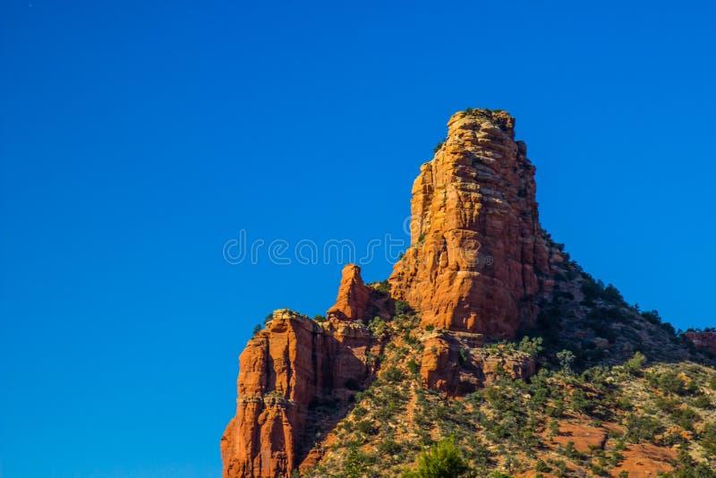 Red Rock Jagged Peaks In Southwest Desert stock photo