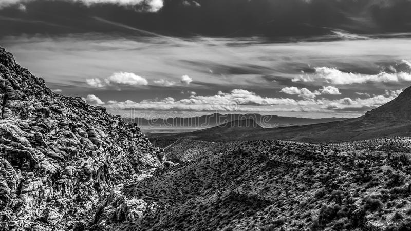 Red Rock Mountain in Black and White royalty free stock photography