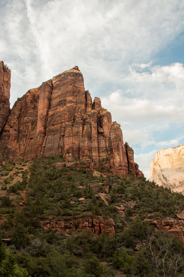 Red Rock Mountain in Zion's National Park royalty free stock image
