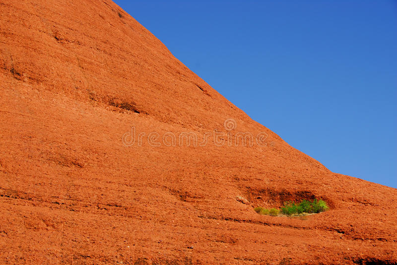 Red rock mountainside stock photography