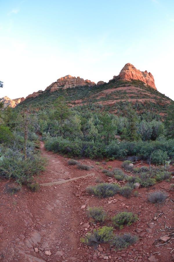 Red Rock of Sedona, Arizona at Sunset stock image