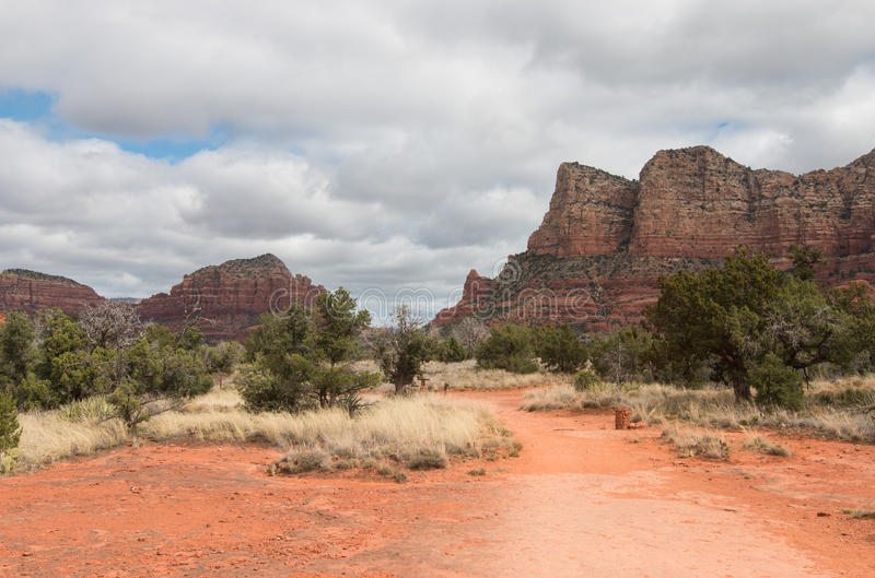 Red Rock State Park on cloudy spring day. Arizona, USA royalty free stock photography