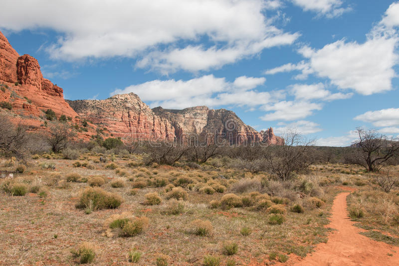 Red Rock State Park at spring. Cloudy spring day in Red Rock State park, Arizona, USA stock photos