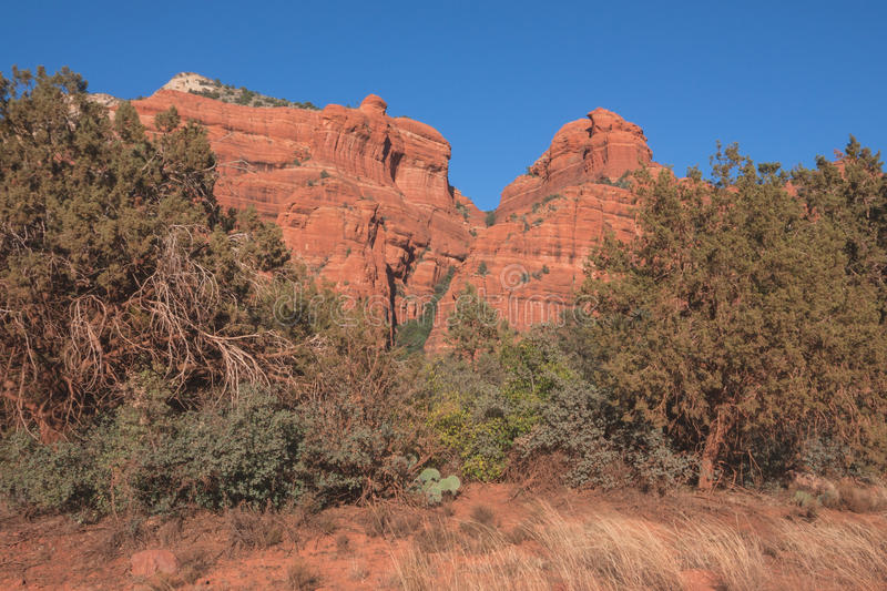 Download Red Rock Wall Landscape stock photo. Image of country - 65581626
