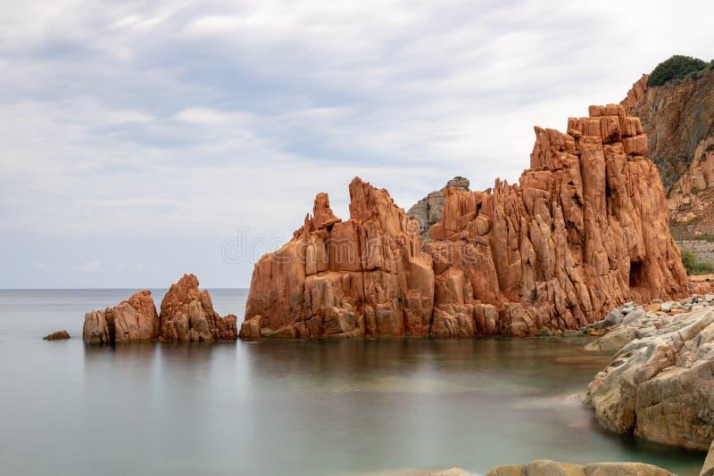 Red Rocks Arbatax, Sardinia Italy royalty free stock photo
