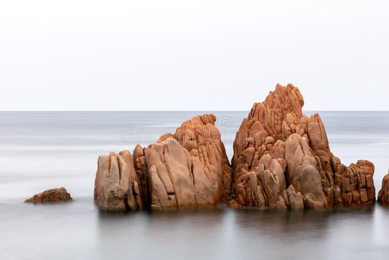 Red Rocks Arbatax, Sardinia Italy stock image