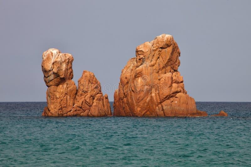 Red Rocks Arbatax, Sardinia, Italy stock images
