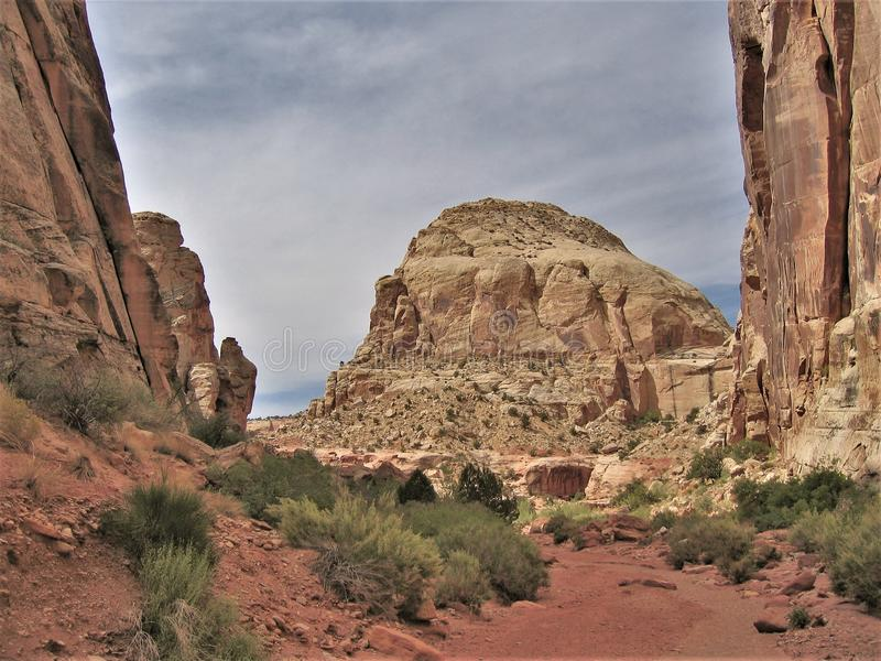 Red Rocks of Canyon Rims stock image